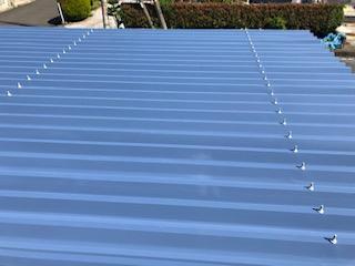 坂戸市で車庫の屋根遮熱塗装を施工しました