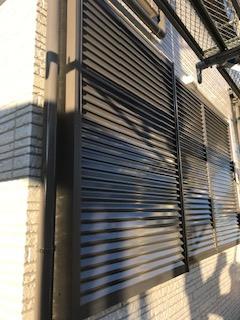 鶴ヶ島市で雨戸の塗装を施工してきました