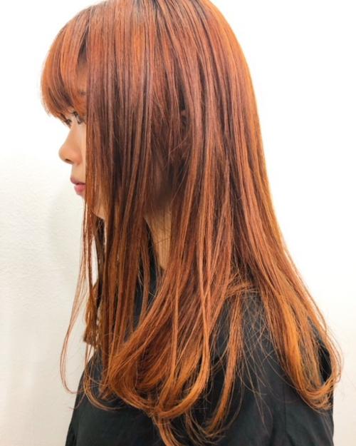 TLONY 渋谷hori 秋のオレンジカラー推し美容師