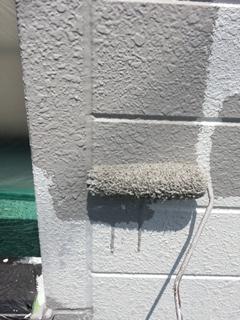 本日狭山市で外壁中塗り塗装工事を施工しました