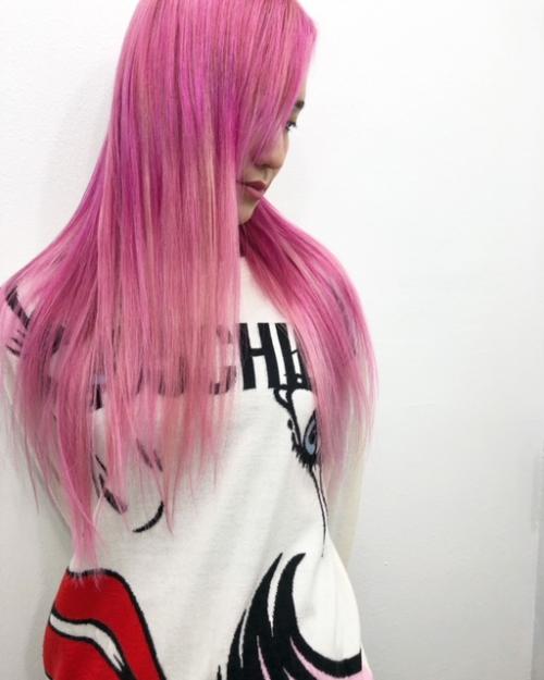 TLONY渋谷hori   ピンクヘアメンテ。