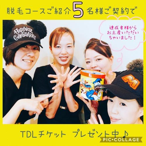 脱毛紹介でTDLチケットプレゼント中!