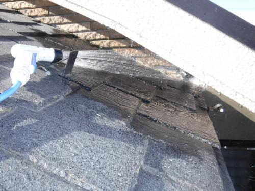 杉並区で雨漏り修繕後の確認散水を実施しました!