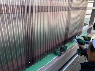 東松山市で波板貼り工事を施工しました