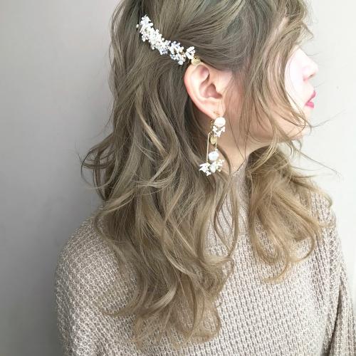 cilsoie イヤリング コーム 巻き髪 アレンジ