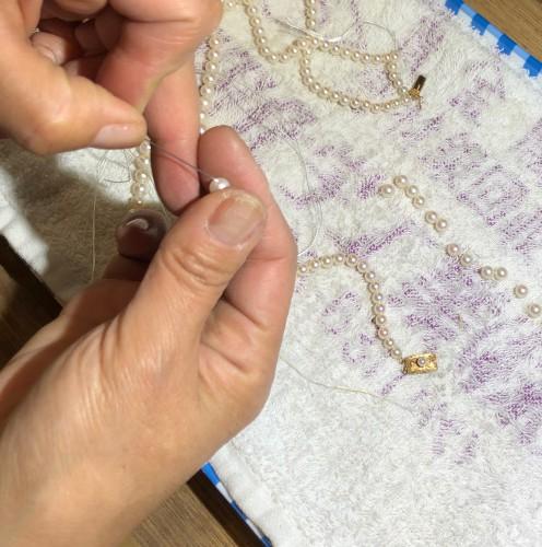 真珠(パール)の糸替えはお早めに