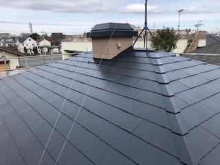 東松山市で屋根の塗装工事が完了致しました