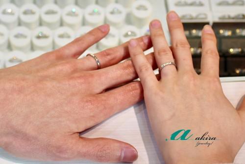 拘りの婚約指輪と結婚指輪