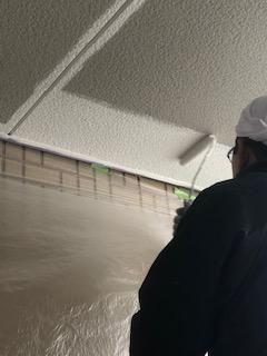 嵐山町で軒天の塗装工事を施工してきました