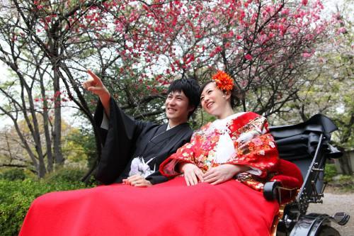 隅田公園・桜と撮る和装ウェディングフォト