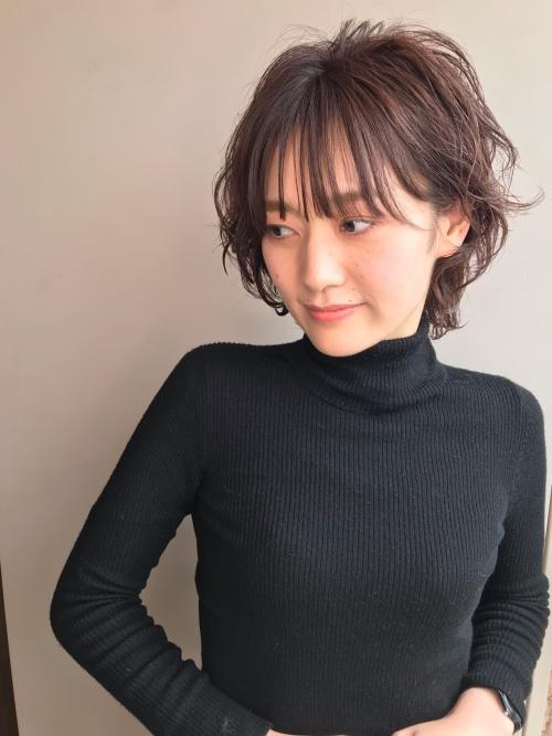 ショートヘア パーマ 女性 ショートカット 髪型