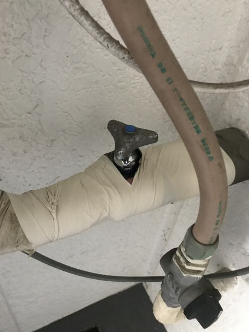 板橋区にて水道修理実施。