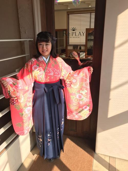 卒業式 袴 着付け ハーフアップ 髪型 2019年