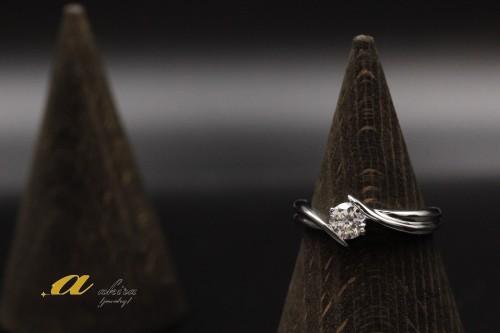 婚約指輪の立て爪リングをデザイン変更いたしました千葉市から