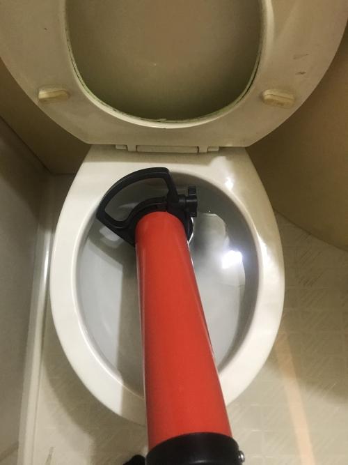 さいたま市北区にてトイレつまり除去実施。