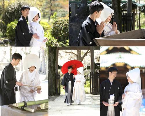 神社ロケ・お二人のお幸せを御祈願致します。
