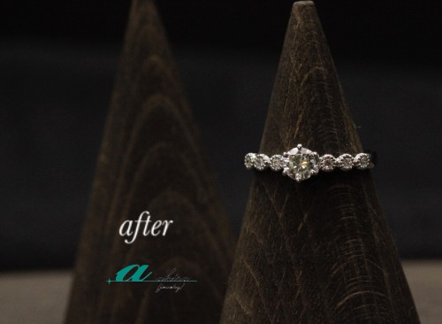 譲り受けた婚約指輪をリフォーム致しました八千代市から御来店