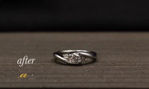 婚約指輪を普段使いにリフォーム稲毛区から御来店