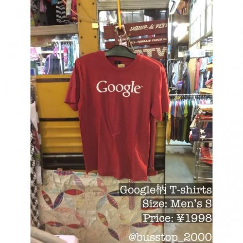 Google柄のTシャツ入荷しました!
