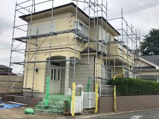 東松山市で屋根コロニアルの塗装工事が完了しました