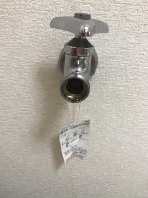 上尾市にて蛇口水漏れ修理実施。