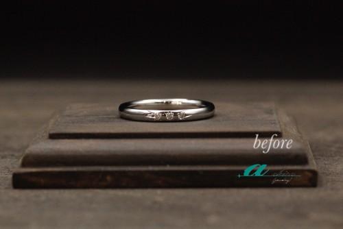 婚約指輪の枠を使って素敵なお返し