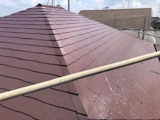 鶴ヶ島市で屋根コロニアルの遮熱塗装工事が完了致しました