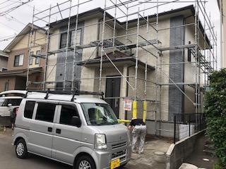 鶴ヶ島市で外壁塗装工事の完了前点検をして来ました