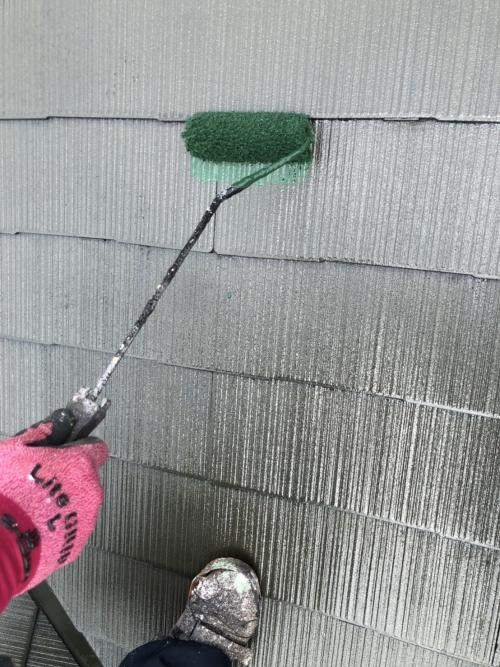 さいたま市中央区屋根中塗り