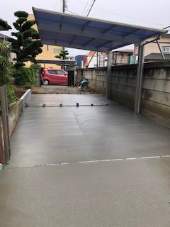 鶴ヶ島市で駐車場の工事を施工しました