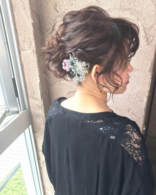 brambly  髪飾り まとめ髪 アレンジ☆
