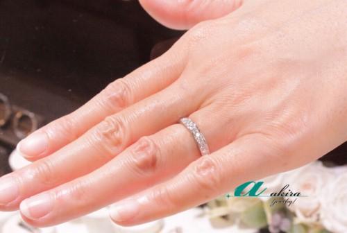 鍛造によるエタ二ティリングの結婚指輪