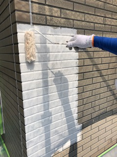 鶴ヶ島市でサイディングの下塗り工事を施工してきました
