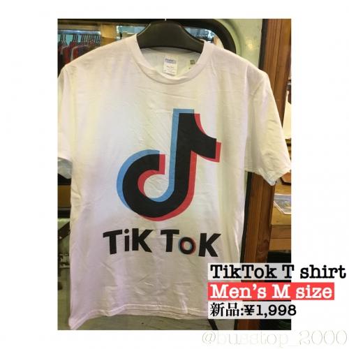 TikTokメンズTシャツ入荷です