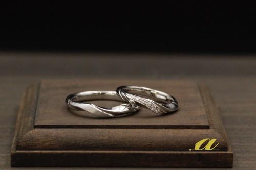 結婚指輪のオーダーメイドのお客様、千葉市から御来店