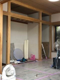 東松山市で和室アク洗い工事を施工しました
