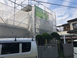 鶴ヶ島市でALC外壁の高圧洗浄工事をしてきました