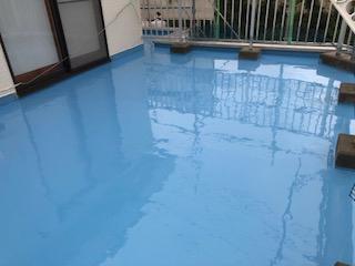 鶴ヶ島市でバルコニー防水工事を施工しました