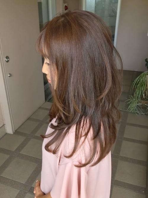 ロングヘア ロングウルフ ウルフカット 髪型