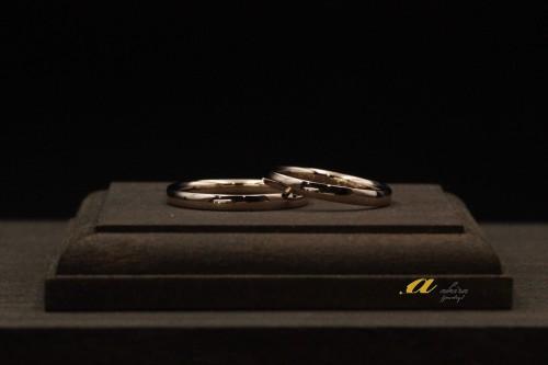 K18ピンクゴールドの結婚指輪千葉市稲毛区から御来店