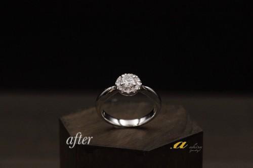 花見川区からお越しのお客様ダイヤモンドリングのリフォーム