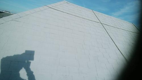 三芳町屋根下塗り一回目