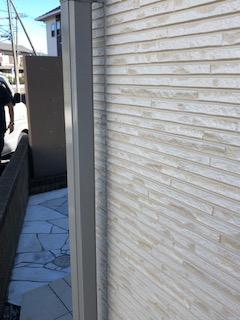 川越市でサイディングの2色塗り分け塗装工事を施工しました