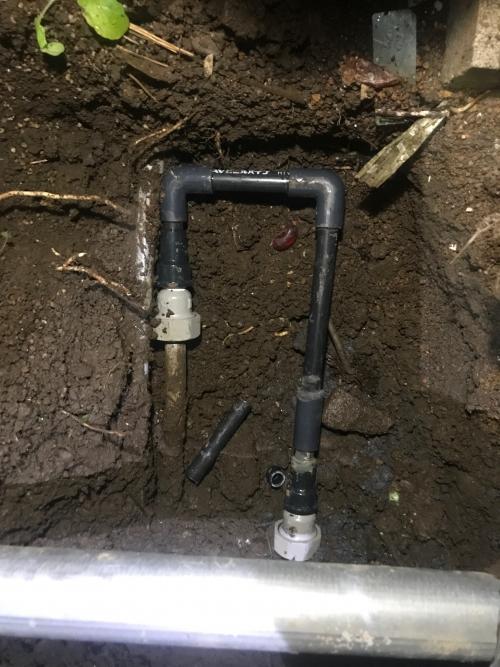 さいたま市にて水漏れ修理実施。