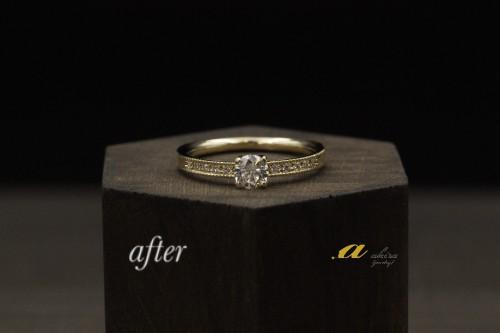 譲り受けた指輪をk18リングにリフォーム習志野市から御来店