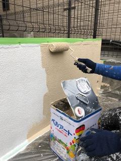 坂戸市でエクステリアの塗装工事を施工しました