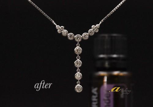 ダイヤモンドデザインネックレスのリフォーム
