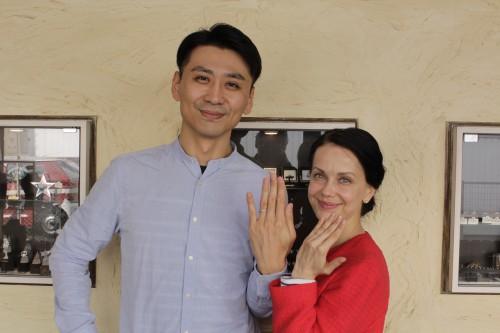 海外在住のお客様、結婚指輪のご注文でした