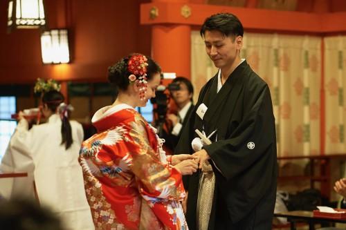 神社で和装挙式