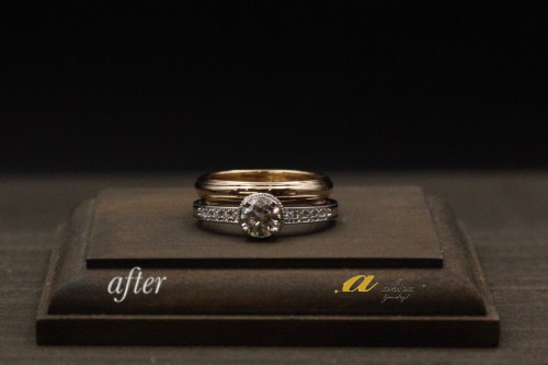 結婚指輪とセットで使うダイヤモンドリング